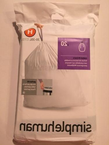 H Plastic Can H Gallon 20 Pack Bags