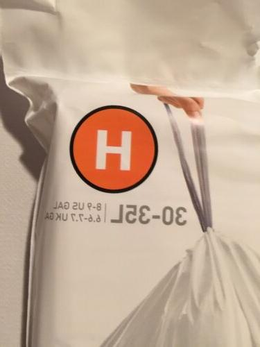 H Simplehuman Can Liners H Gallon 20 Pack Bags