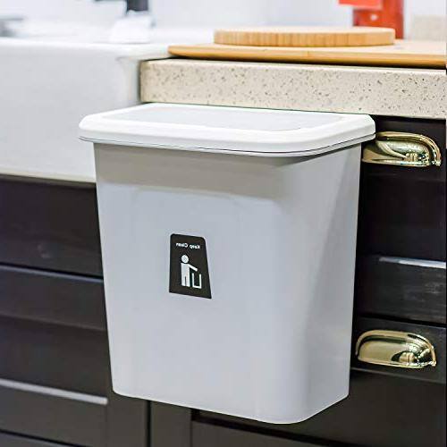 kary Can,Small Kitchen Trash Can,Garbage Kitchen Automatic Lid,Grey