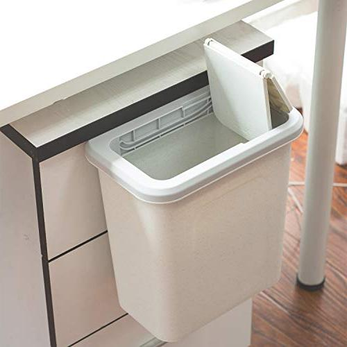 kary Can,Small Cabinet Can,Garbage Canfor Cupboardwith Automatic Return Lid,Grey