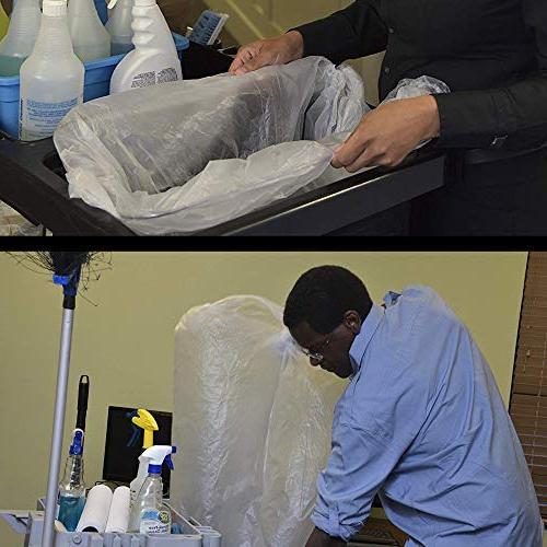 Aluf Plastics 7-8 Clear Bags - 24' High Density Bags Industrial, Commercial, Recycling and More.