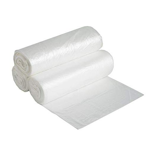 Aluf Plastics 7-8 Clear Trash 24' High Value Bags for Bathroom, Industrial, Janitorial, Recycling and More.