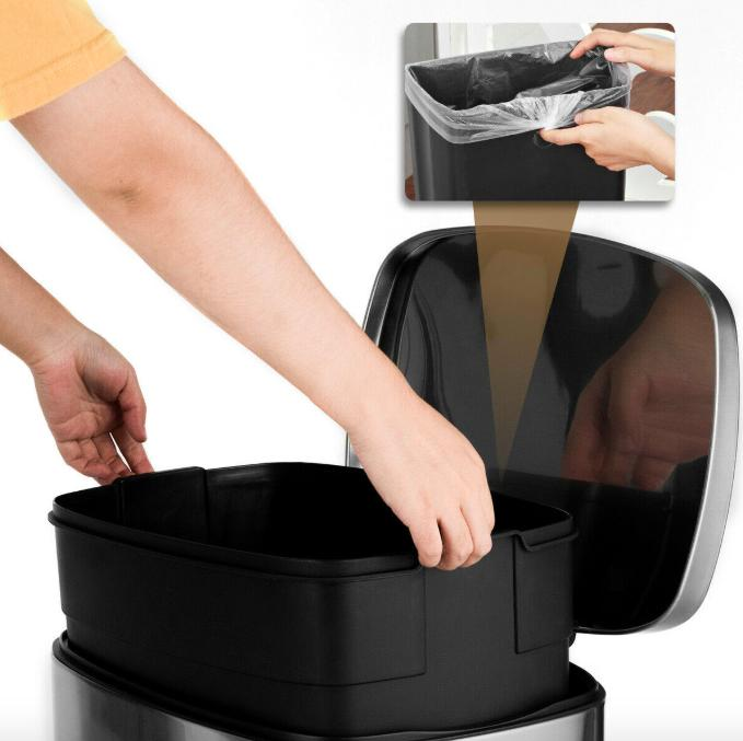 Heavy Duty Garbage Touchless Bin Kitchen Step Can
