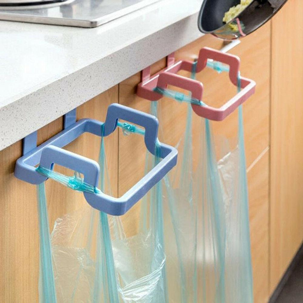 JW_ Kitchen Door Basket Hanging Can Waste Bin Novel
