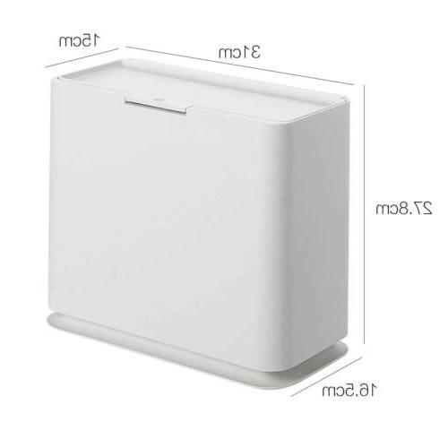 Wastebasket Trash Bin Bathroom Toilet Home Slim