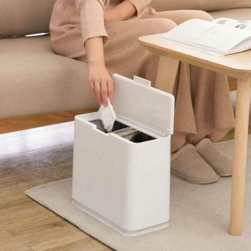 Wastebasket W Trash Bin Bathroom Toilet Slim