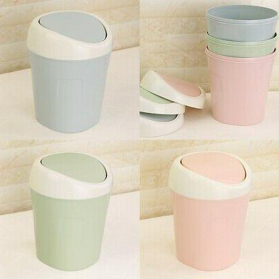 US Cute Small Waste Bin Desktop Basket Home Trash Can