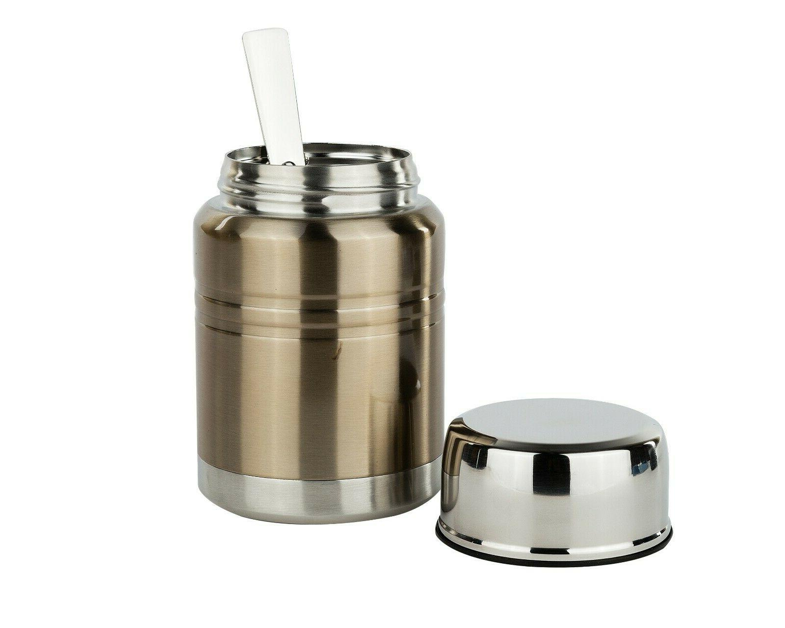 Insulated Meal Container Spoon Jar Gold