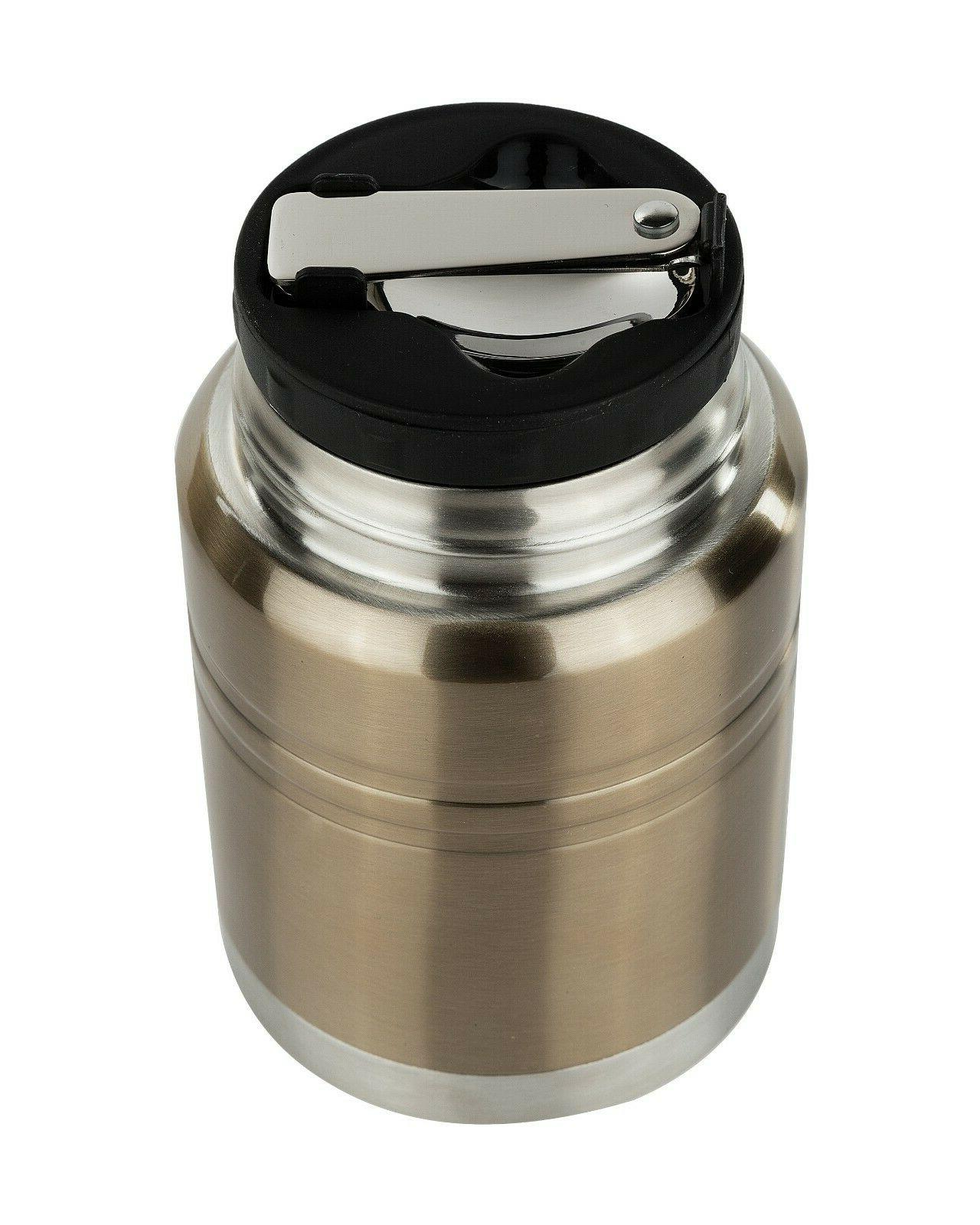 Insulated Food Thermos Meal Spoon Food