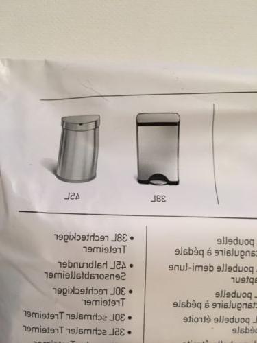 J Simplehuman Plastic Trash Can Liners Gallon 20 Pack Bags