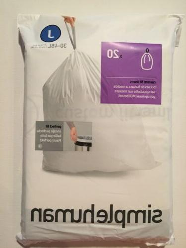 J Simplehuman Plastic Can Gallon Pack Garbage Bags