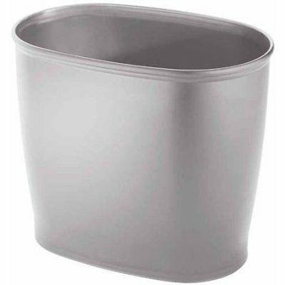 kent bathware oval silver wastebasket