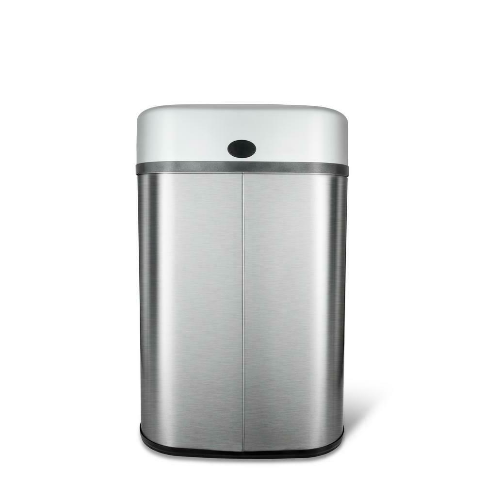 Kitchen Motion Sensor Can Stainless Garbage Gallon