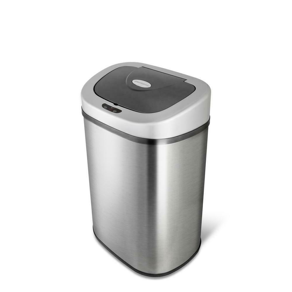 Kitchen Can Touchless Stainless Garbage