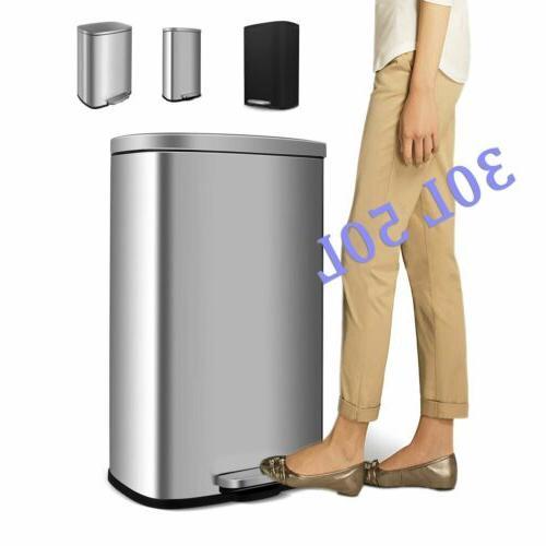 8 13 gallon kitchen step trash can