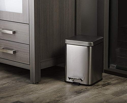 Deppon Trash Can Liters/1.6 Step Stainless Bin with Inner Bucket for Home, Office