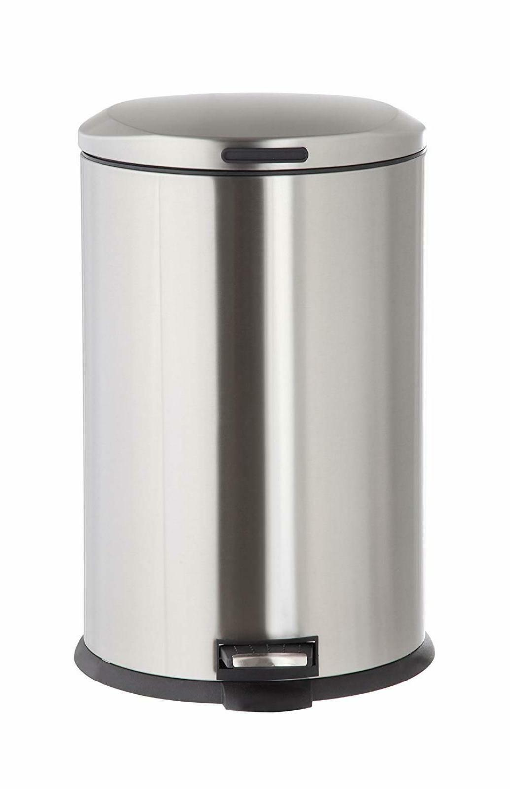 Kitchen Trash Can with Lid 13 Gallon Stainless