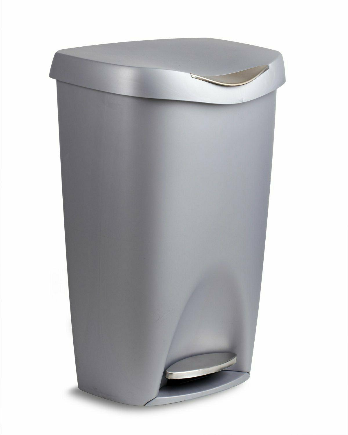 Large Garbage Trash Can Stainless Foot Pedal Stylish Umbra N