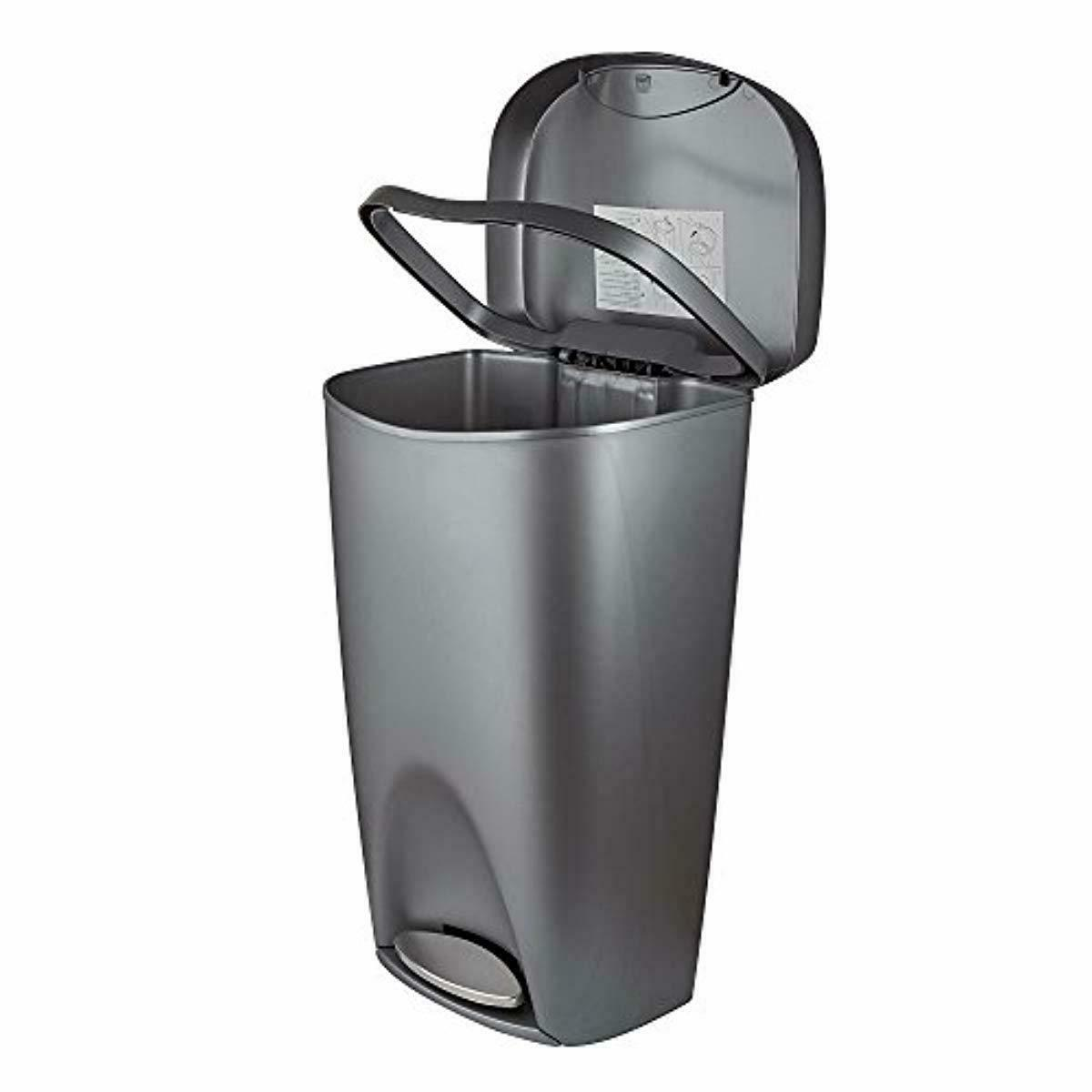 Large Kitchen Garbage with Trash Can w/ Pedal Lid