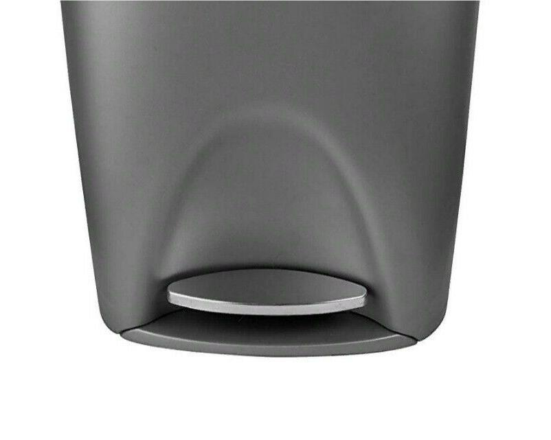 Large 13 Gallon Garbage Can Black Plastic With Lid Can