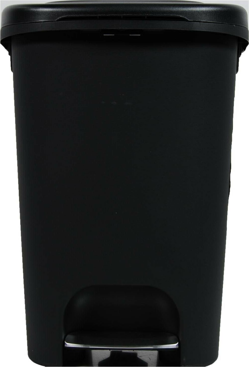 Large Can 13 Garbage Can Black Plastic Can Step
