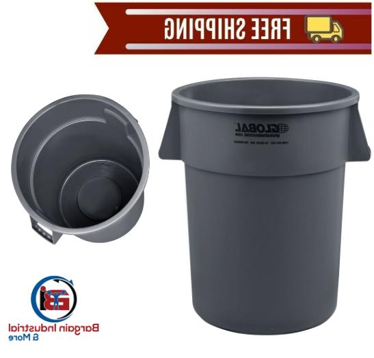 large plastic trash container 55 gallon outdoor