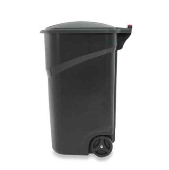 Large Rolling Can Wheeled Waste Garbage Bin Container