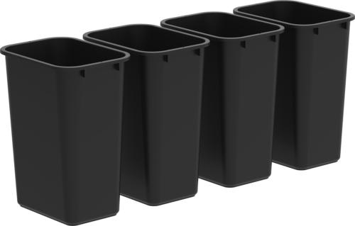 Storex Large/Tall Waste Basket, 15.5 x 11 x 20.75 Inches, Bl