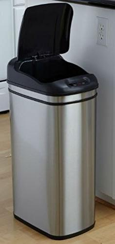 K&A Company Lid Trash Can Open Steel Stainless Motion Touchl