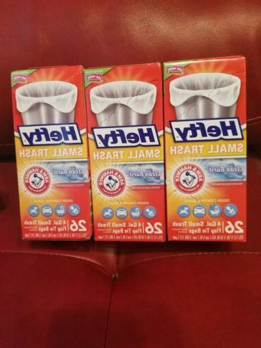lot of 3 small trash garbage bags
