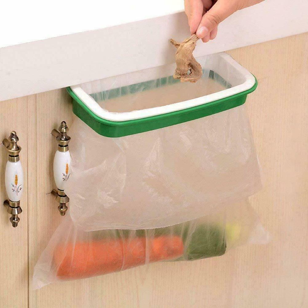 Lunies Trash Bag Holder for Kitchen Cupboard Green