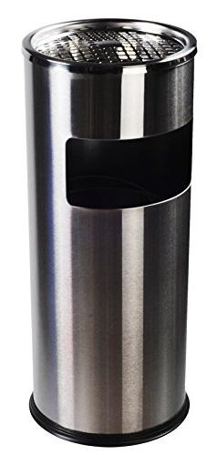 AMENITIES DEPOT Luxurious Stainless Steel Trash Can Garbage