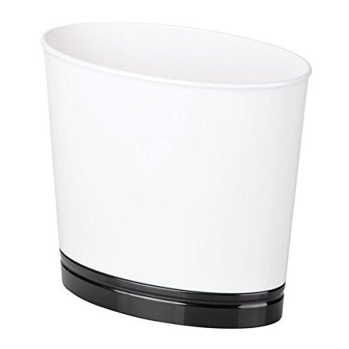 mdesign oval wastebasket trash can