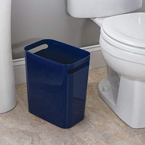 """InterDesign Wastebasket Can 12"""", Navy"""