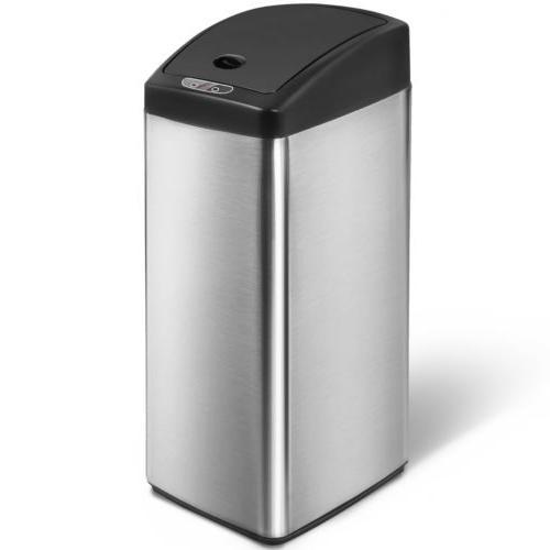 Merax Sensor Office Kitchen Trash Can Stainless Steel Garbag