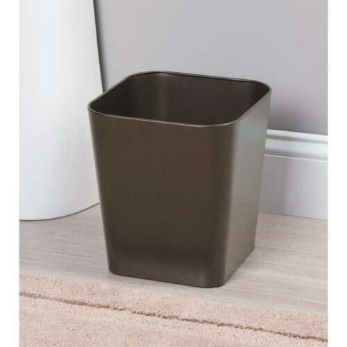 mDesign Metal Trash Container Bin