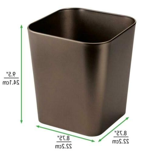 mDesign Metal Square Small Container