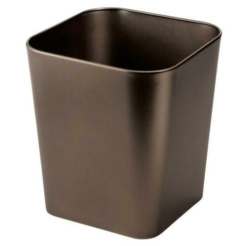 metal square small trash can wastebasket garbage