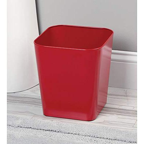 mDesign Trash Container Bin Powder Kitchens, Home Offices - of 2, Construction in