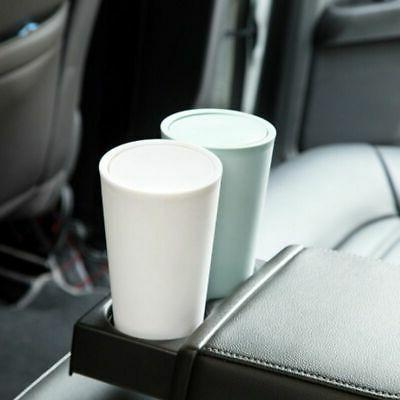 Mini Car Small Trash Can Cans Waste Container Lid