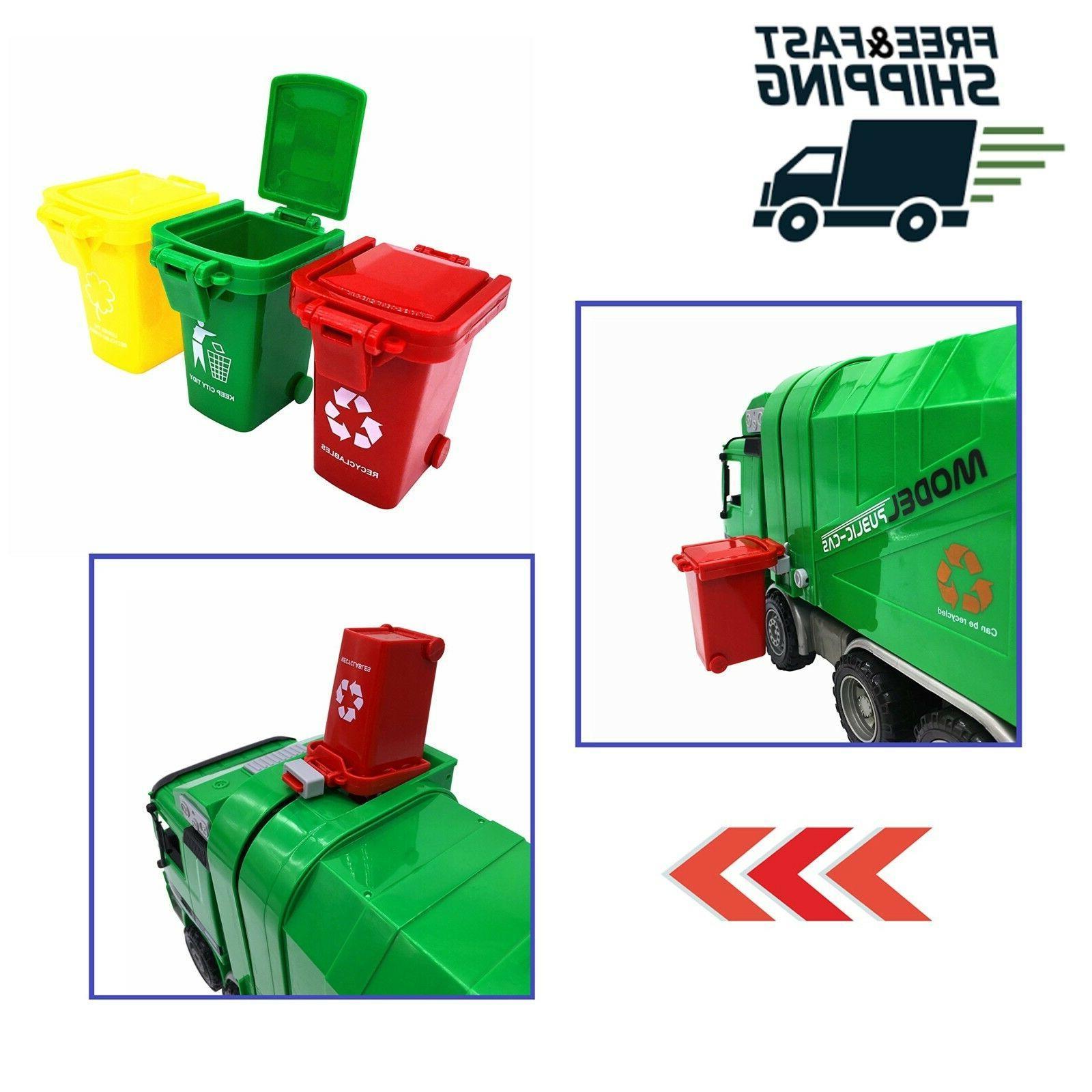 Original Vehicle Garbage Bin Can Toy Toddlers