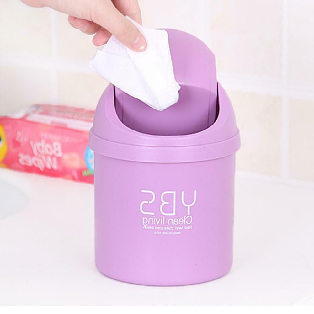 Mini Waste Bin Office Garbage Table Can with Lid
