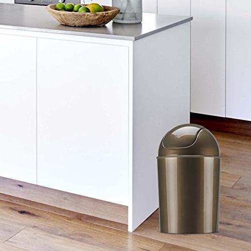 Umbra Mini Waste 1-1/2 Gallon Swing Lid, Bronze