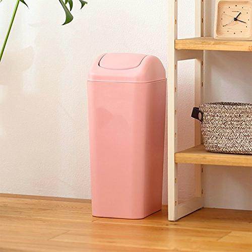 Topgalaxy.Z Mini 8 Plastic Trash Can, Small Can Lid, Office