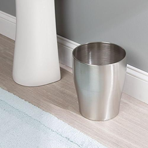 mDesign Small Trash Can Garbage Bin - Durable Construction, Pack,