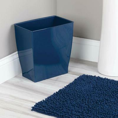 Navy Blue Trash Rectangular Garbage Can 2.5