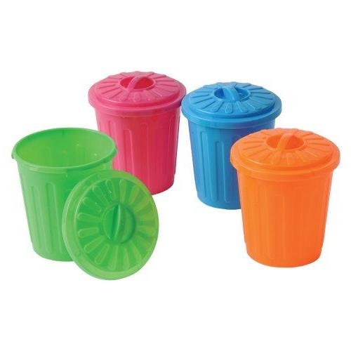 neon mini garbage cans