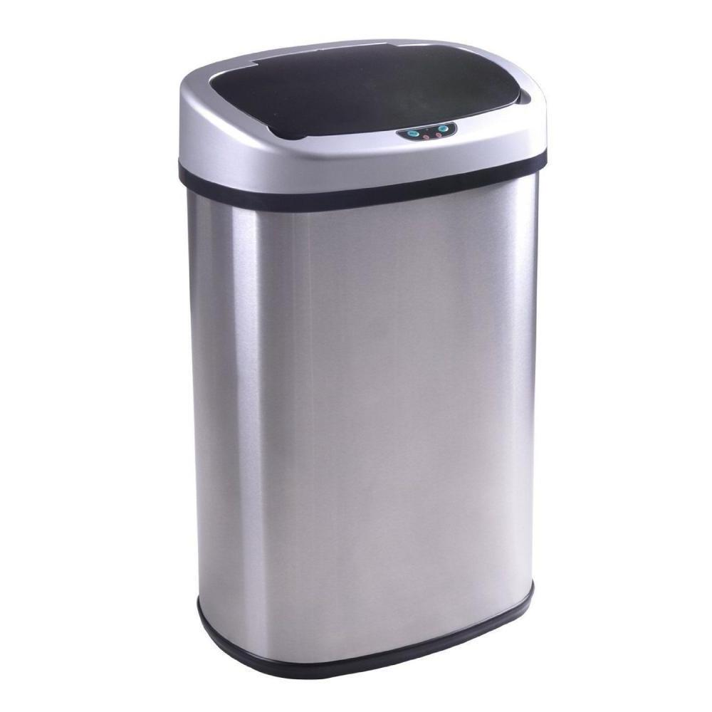 New Touch Sensor Automatic Touchless Trash Can Kitchen Office