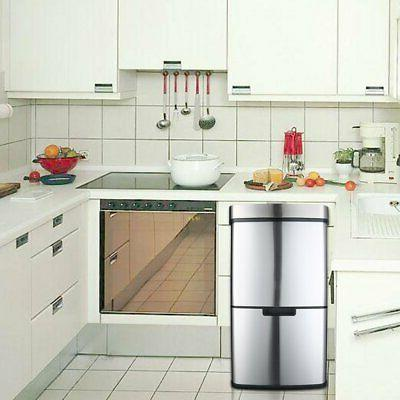 17 Gallon Trash Automatic Garbage Bin Stainless Steel