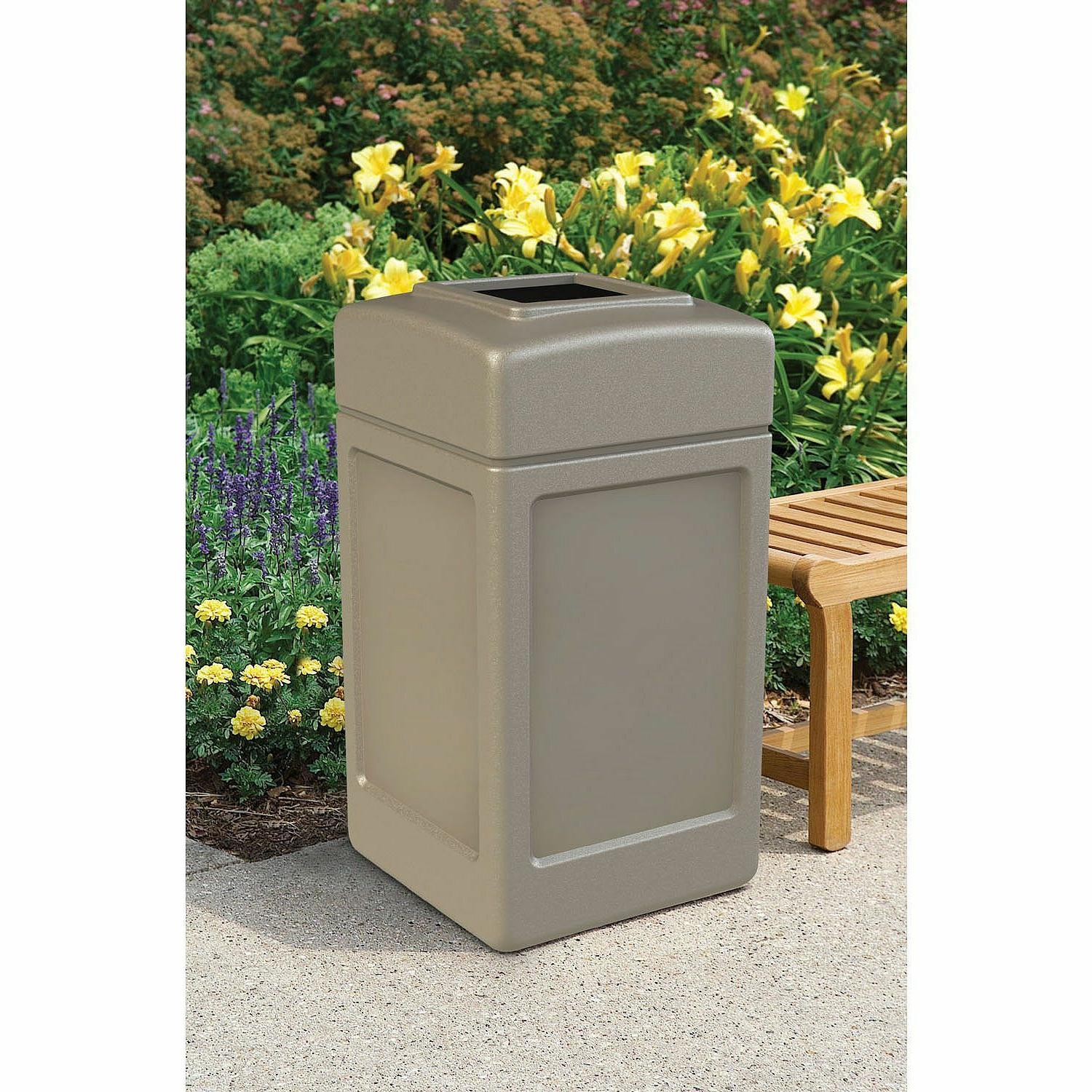 New 42 Commercial Zone Trash Beige Can Lid